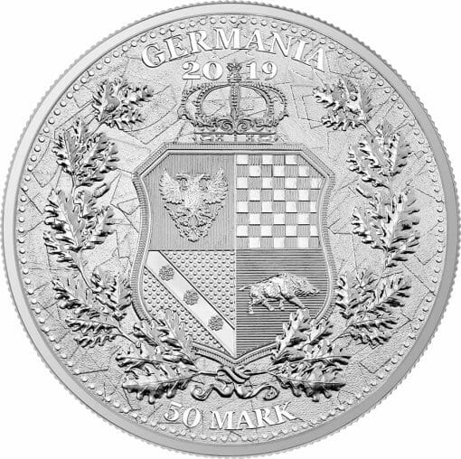 2019 The Allegories - Britannia & Germania 10oz .9999 Silver Coin 2