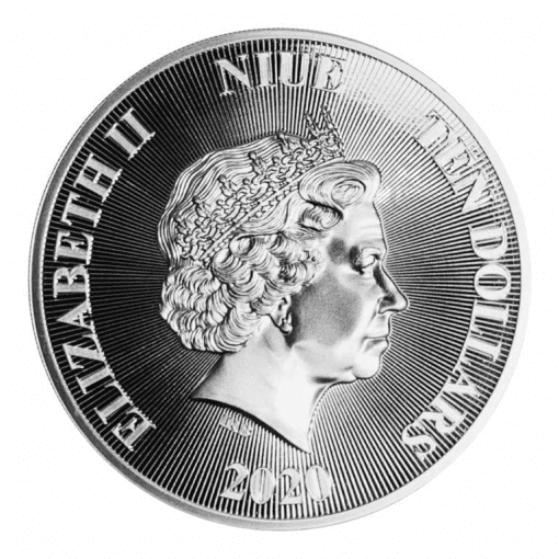 2020 Roaring Lion 5oz .9999 Silver High Relief Coin 3