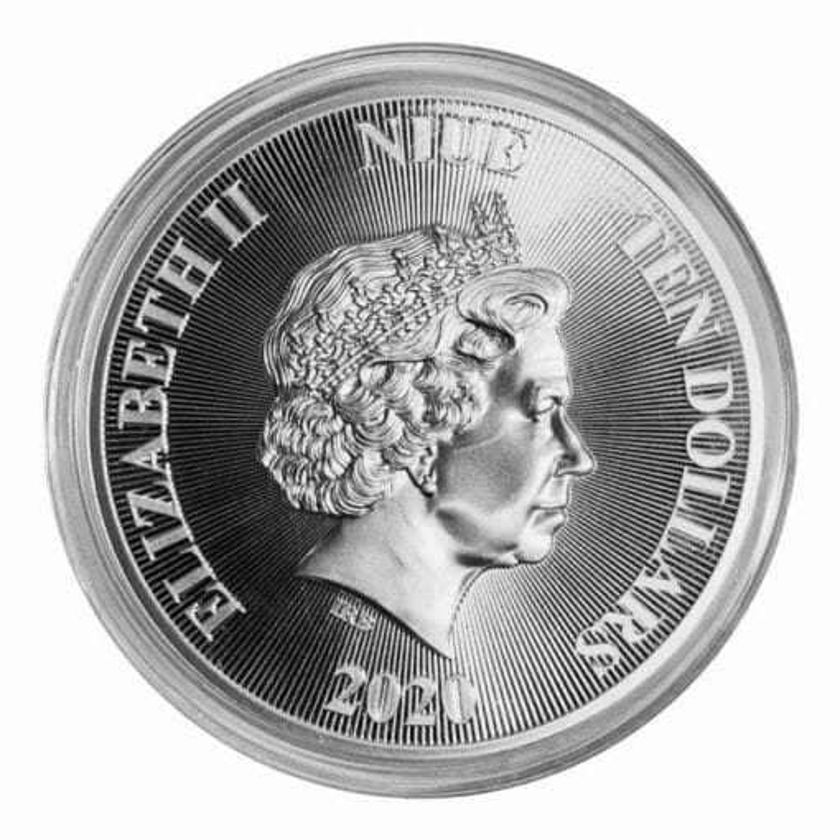 2020 Roaring Lion 5oz .9999 Silver High Relief Coin 5