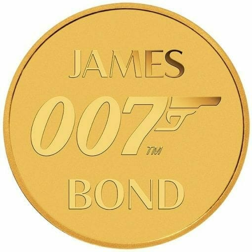 2020 007 James Bond 0.5g .9999 Gold Coin in Card 3