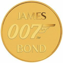 2020 007 James Bond 0.5g .9999 Gold Coin in Card 7