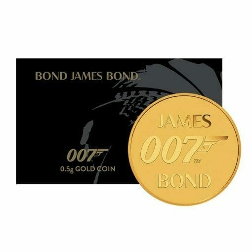 2020 007 James Bond 0.5g .9999 Gold Coin in Card 1