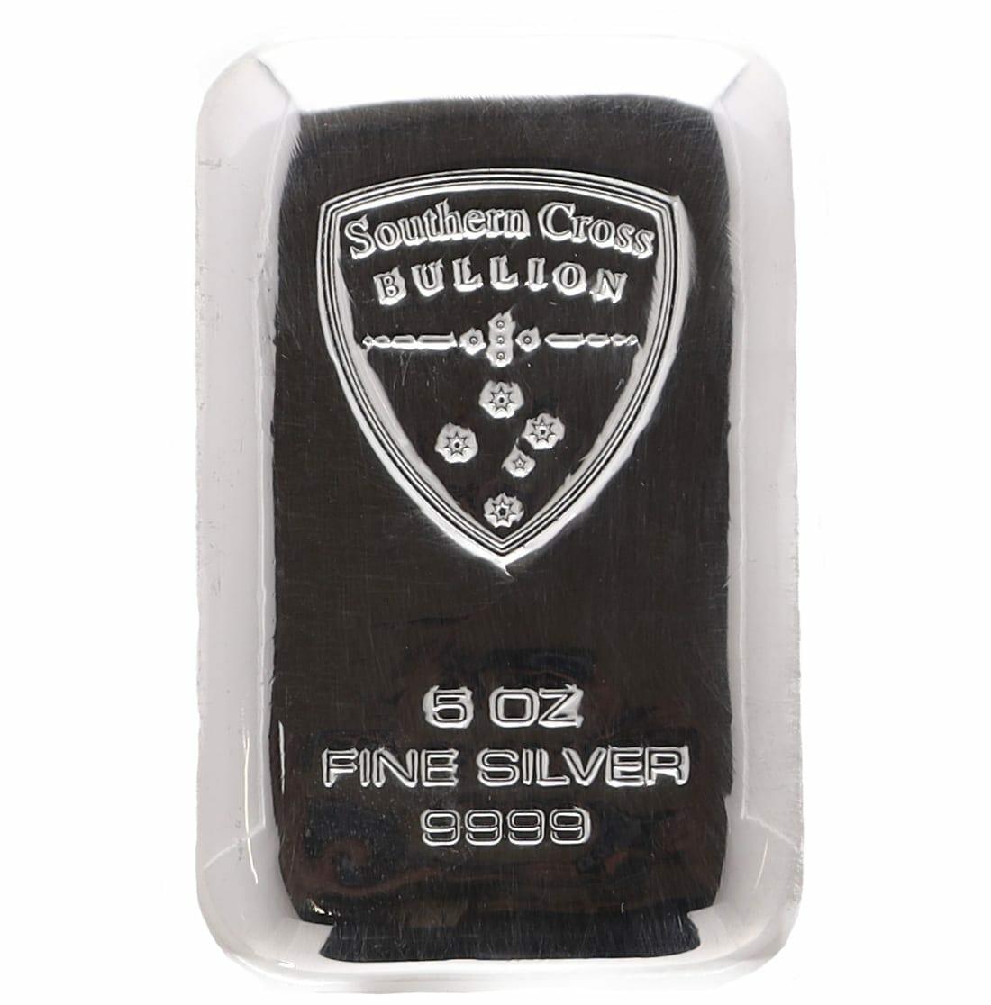 Southern Cross Bullion 5oz .9999 Silver Cast Bullion Bar 1