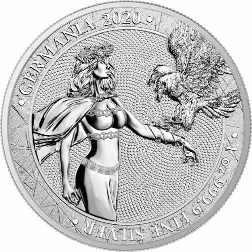 2020 Germania 1oz .9999 Silver Bullion Coin 1