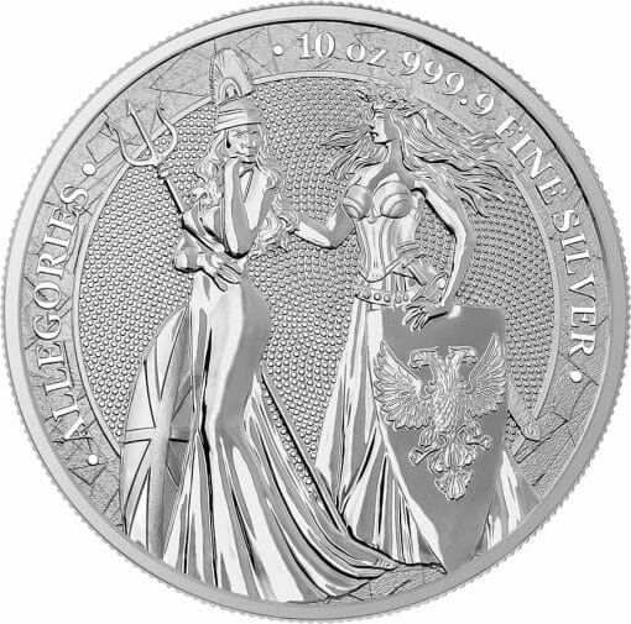 2019 The Allegories - Britannia & Germania 10oz .9999 Silver Coin 1