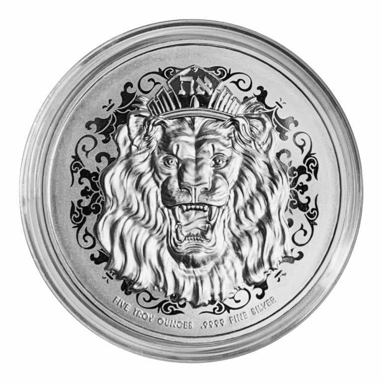 2020 Roaring Lion 5oz .9999 Silver High Relief Coin 4
