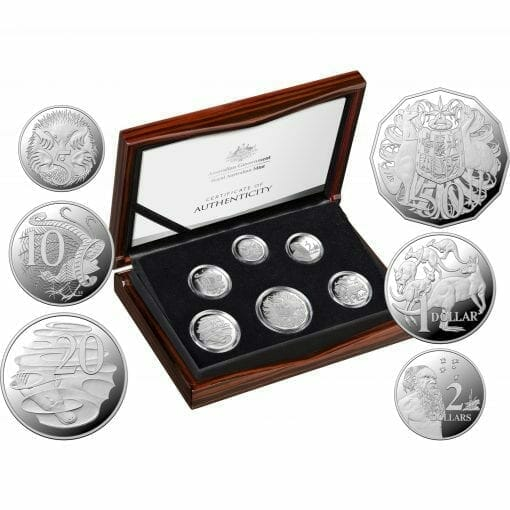2020 6th Portrait - A New Effigy Era .999 Silver Proof Six Coin Year Set 1