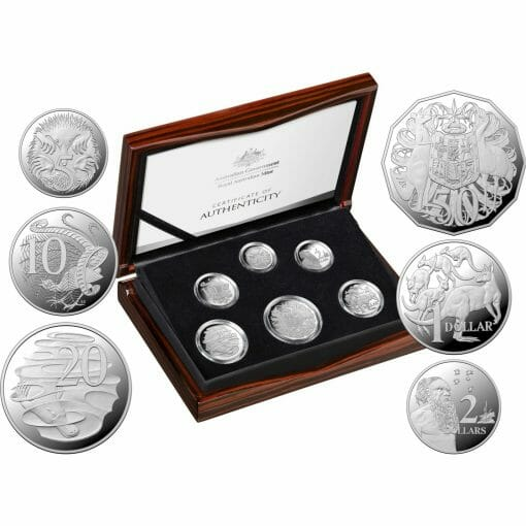 2020 6th Portrait - A New Effigy Era .999 Silver Proof Six Coin Year Set 1