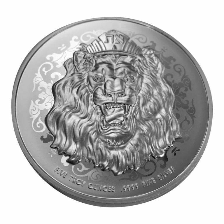 2020 Roaring Lion 5oz .9999 Silver High Relief Coin 2