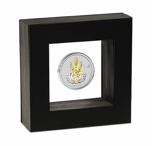 2020 Diwali 1oz .9999 Silver Gilded Medallion 8
