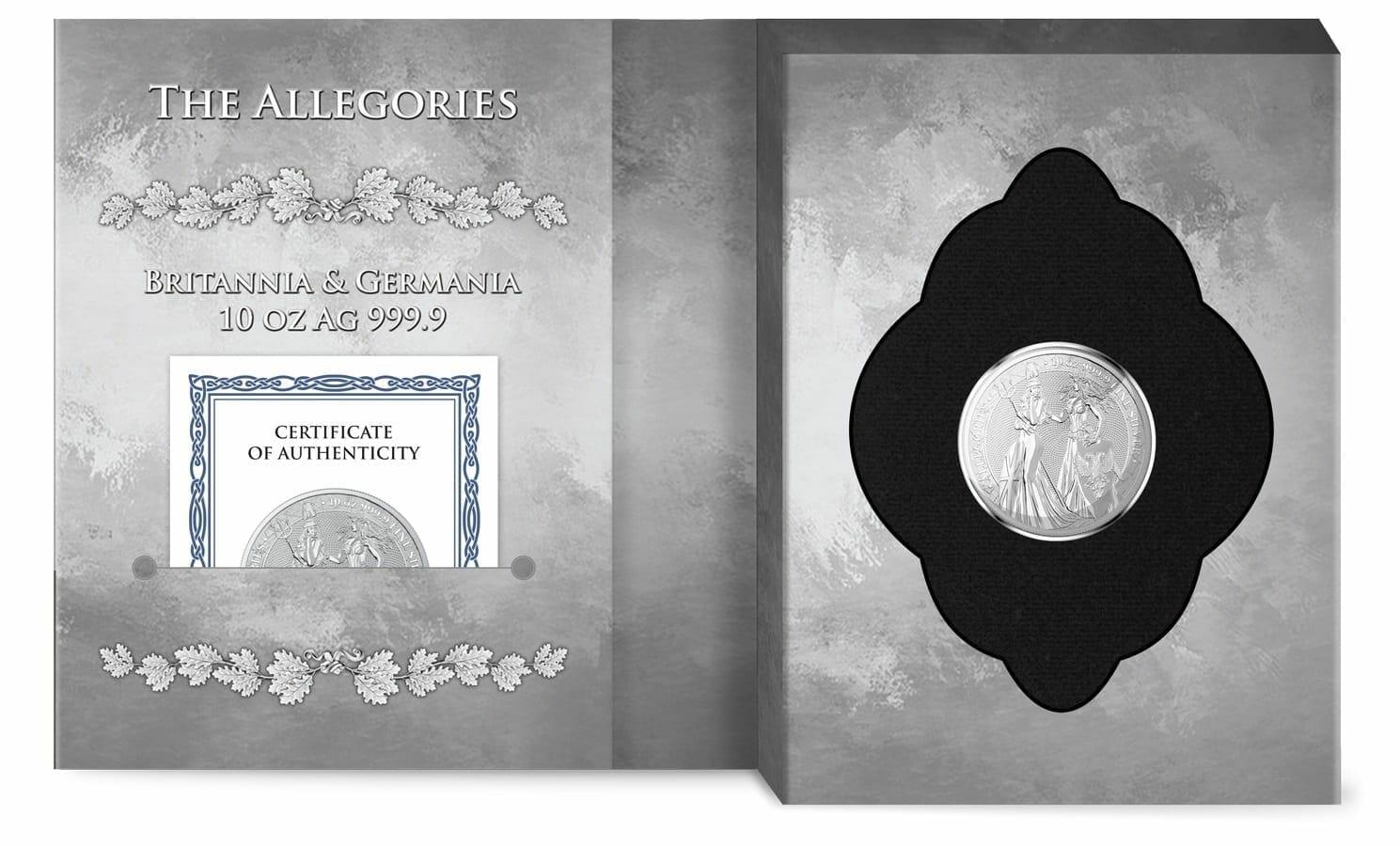 2019 The Allegories - Britannia & Germania 10oz .9999 Silver Coin 4