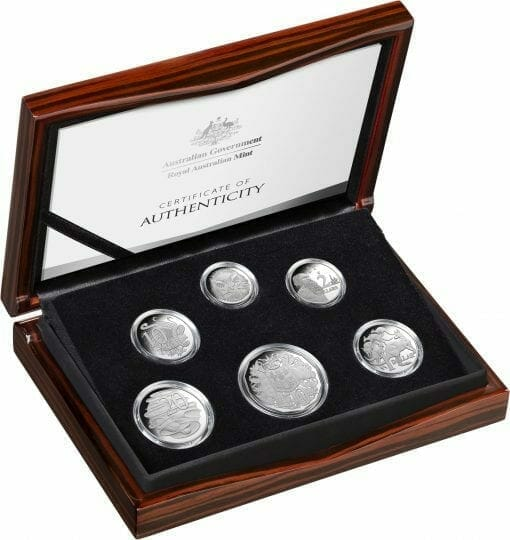 2020 6th Portrait - A New Effigy Era .999 Silver Proof Six Coin Year Set 3