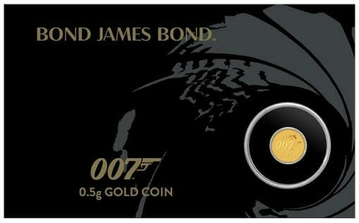 2020 007 James Bond 0.5g .9999 Gold Coin in Card 2
