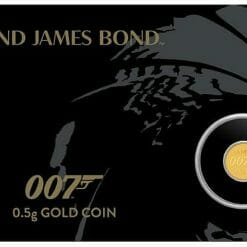 2020 007 James Bond 0.5g .9999 Gold Coin in Card 6