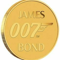 2020 007 James Bond 0.5g .9999 Gold Coin in Card 8