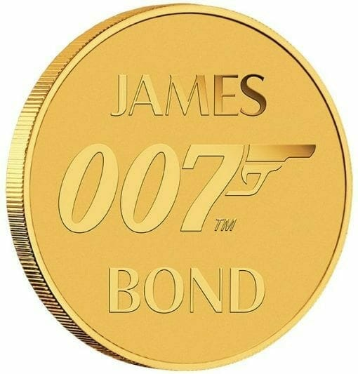 2020 007 James Bond 0.5g .9999 Gold Coin in Card 4