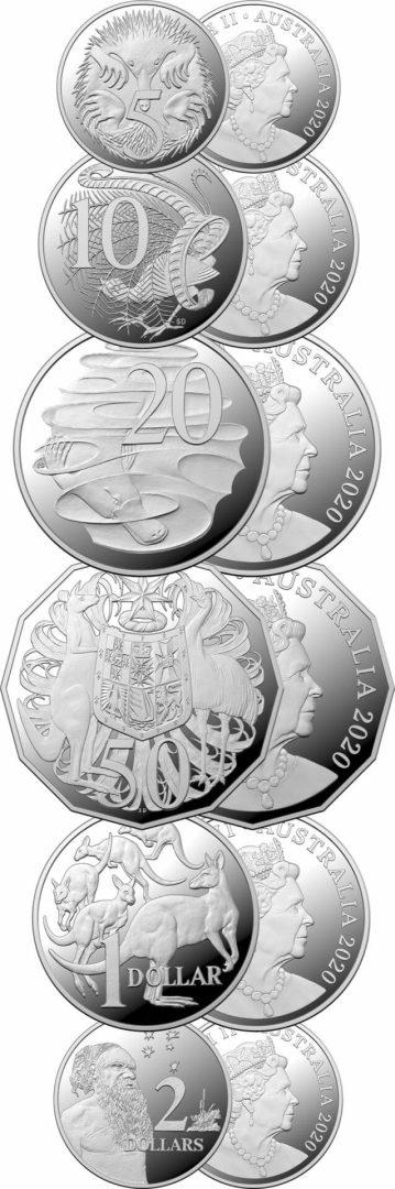 2020 6th Portrait - A New Effigy Era .999 Silver Proof Six Coin Year Set 2