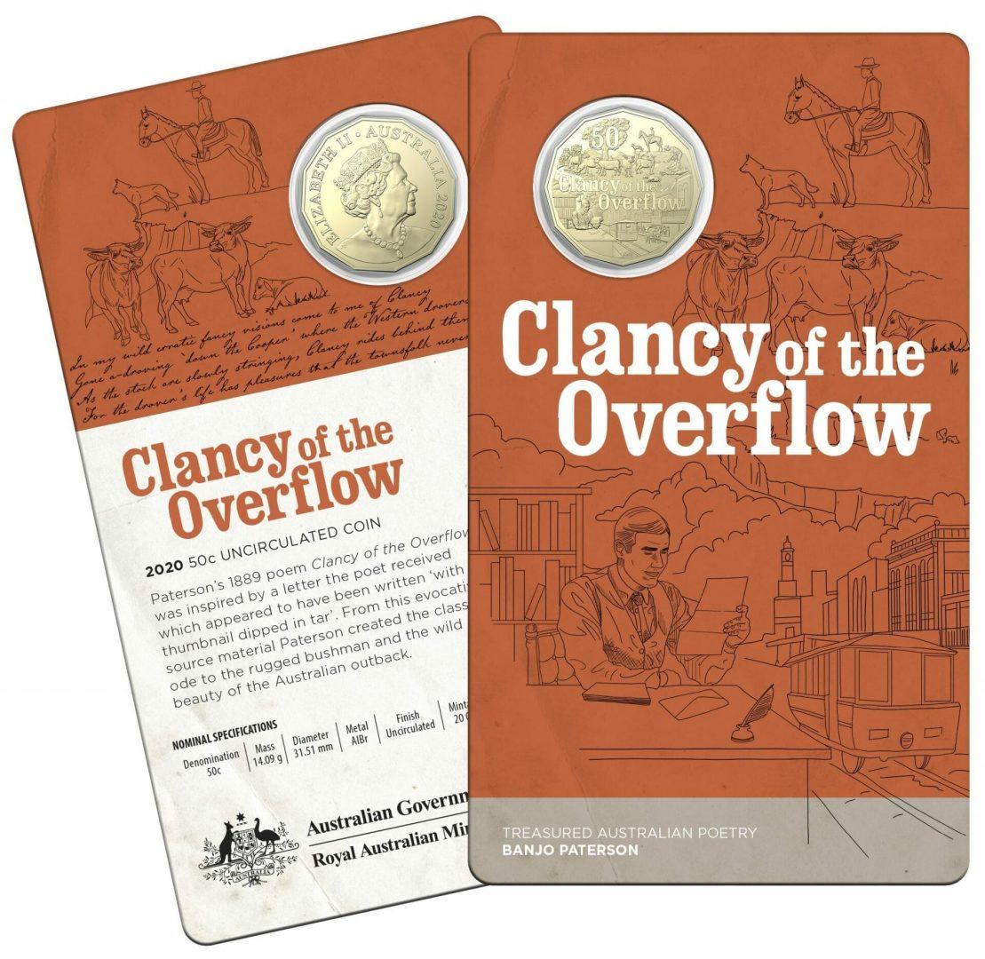 2020 50c Banjo Paterson - Treasured Australian Poetry Uncirculated Three Coin Set - AlBr 8