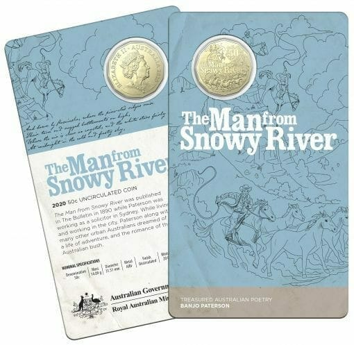 2020 50c Banjo Paterson - Treasured Australian Poetry Uncirculated Three Coin Set - AlBr 6