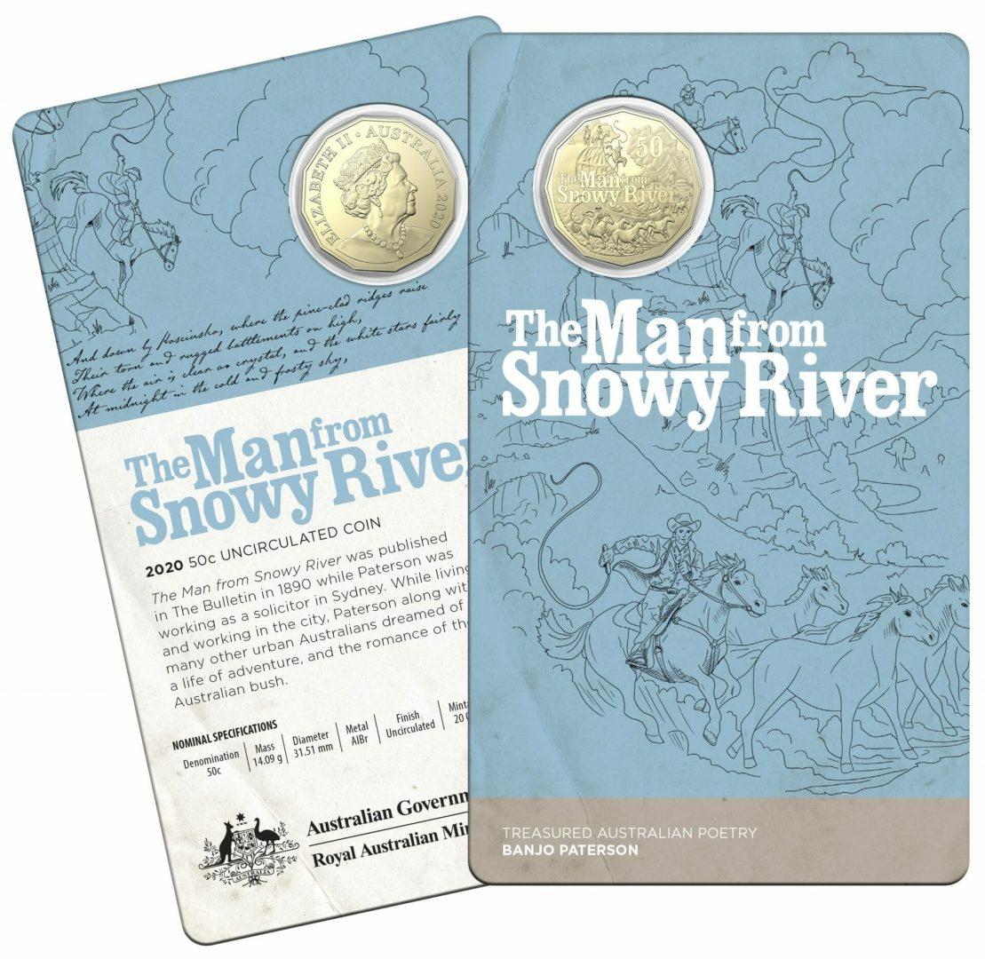 2020 50c Banjo Paterson - Treasured Australian Poetry Uncirculated Three Coin Set - AlBr 6