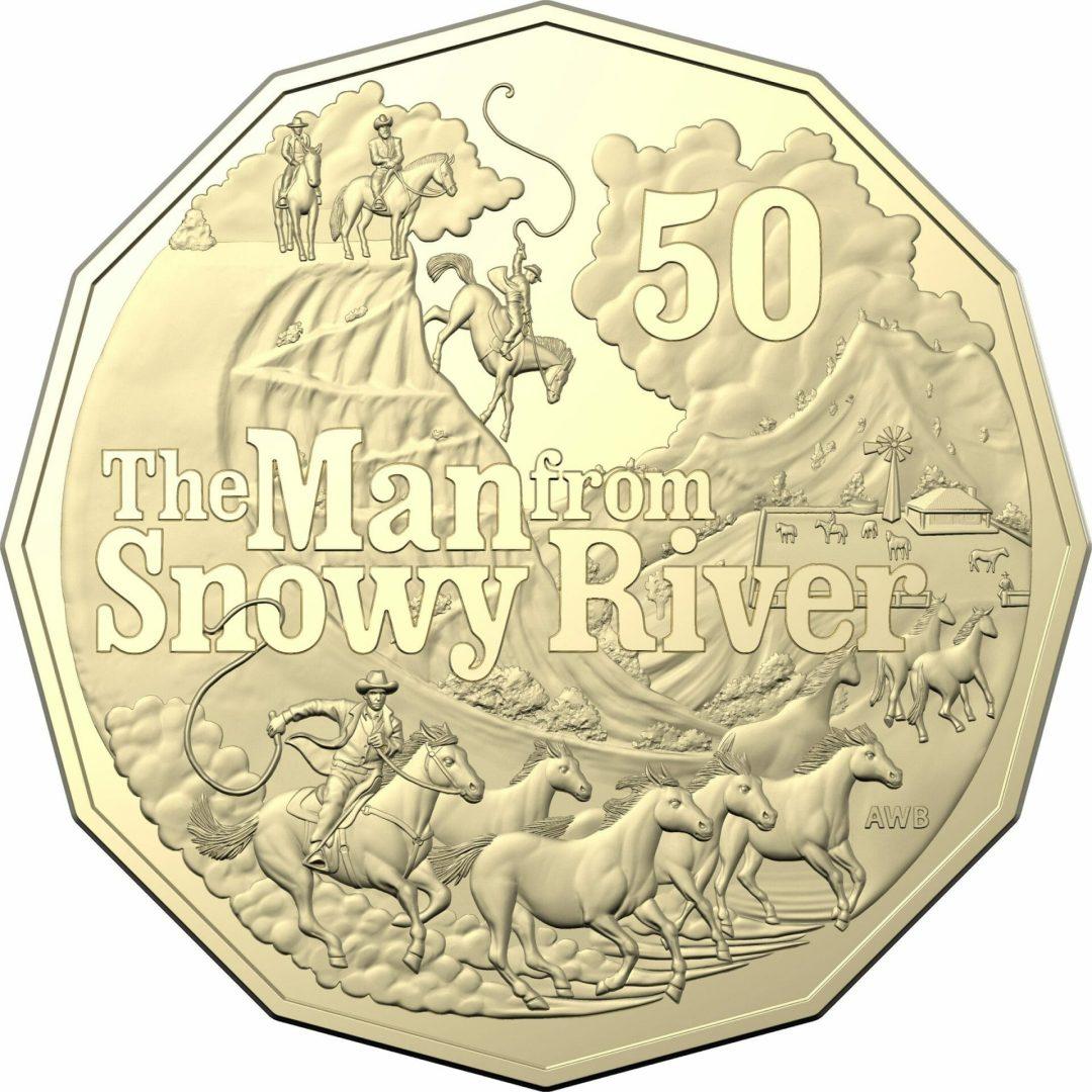 2020 50c Banjo Paterson - Treasured Australian Poetry Uncirculated Three Coin Set - AlBr 7