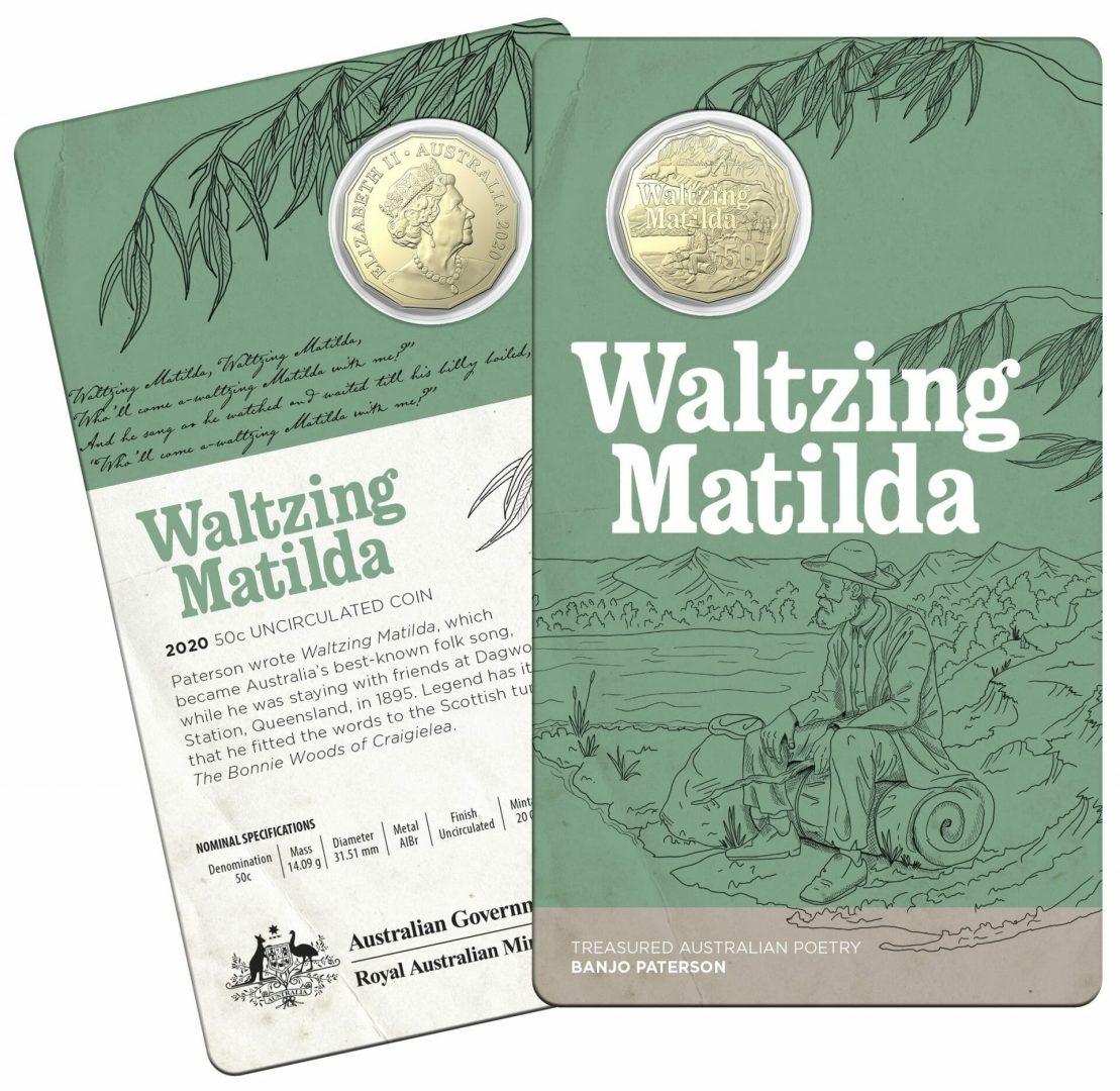 2020 50c Banjo Paterson - Treasured Australian Poetry Uncirculated Three Coin Set - AlBr 4