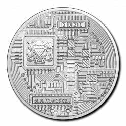2020 Chad Crypto Series - Bitcoin 1oz .999 Silver Bullion Coin 3