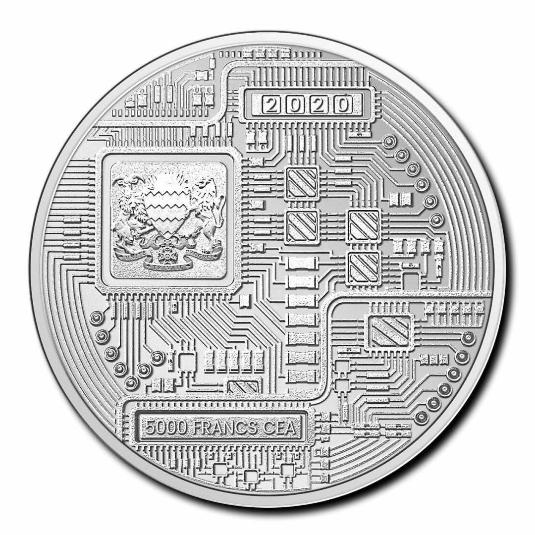 2020 Chad Crypto Series - Bitcoin 1oz .999 Silver Bullion Coin 2