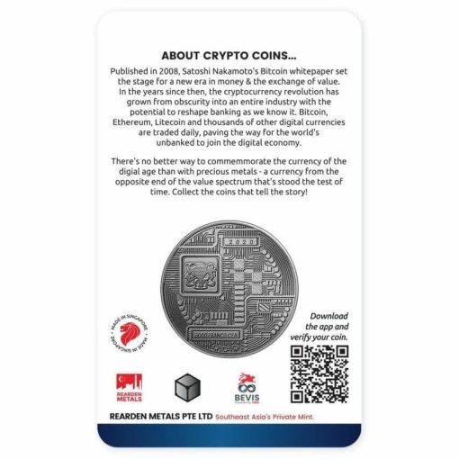 2020 Chad Crypto Series - Litecoin 1oz .999 Silver Antiqued Coin 2