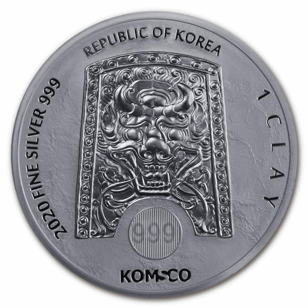 2020 South Korean Chiwoo Cheonwang 1oz .999 Silver Bullion Round 2