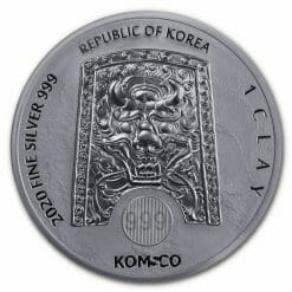 2020 South Korean Chiwoo Cheonwang 1oz .999 Silver Bullion Round 3