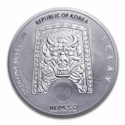 2020 South Korean ZI:SIN Rattus 1oz .999 Silver Bullion Round 2