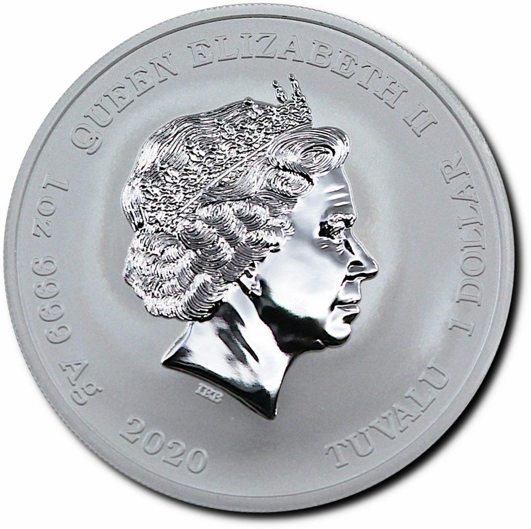 2020 Gods of Olympus - Zeus 1oz .9999 Silver Bullion Coin 2