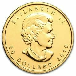 2010 Maple Leaf 1oz .9999 Gold Bullion Coin 3