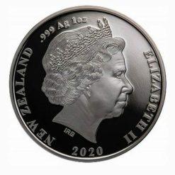 2020 New Zealand Chatham Island Crested Penguin 1oz .999 Silver Bullion Coin 3