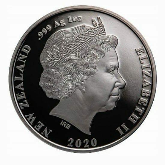 2020 New Zealand Chatham Island Crested Penguin 1oz .999 Silver Bullion Coin 2