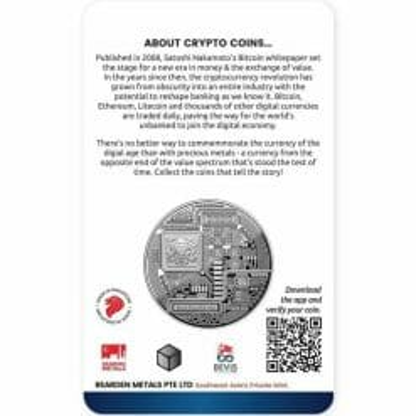 2020 Chad Crypto Series - Bitcoin 1oz .999 Silver Coin 3