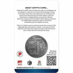 2020 Chad Crypto Series - Bitcoin 1oz .999 Silver Antiqued Coin 3