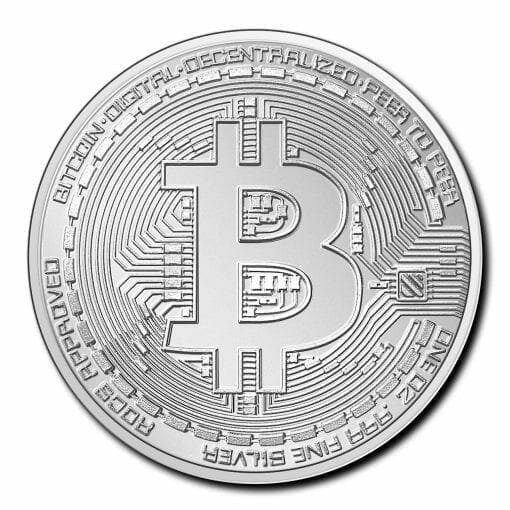 2020 Chad Crypto Series - Bitcoin 1oz .999 Silver Bullion Coin 1
