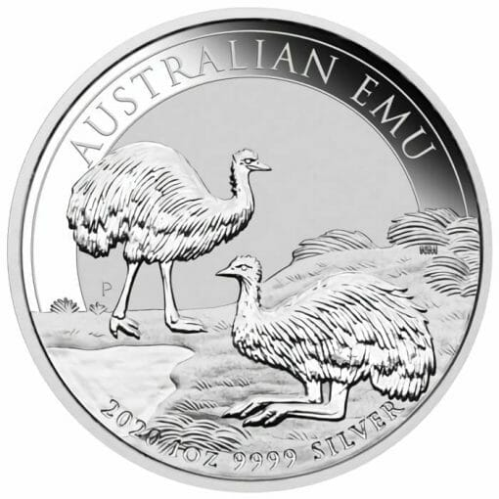 2020 Australian Emu 1oz .9999 Silver Bullion Coin 1