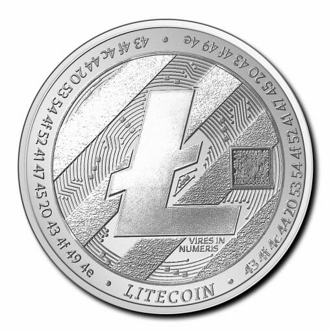 2020 Chad Crypto Series - Litecoin 1oz .999 Silver Bullion Coin 1