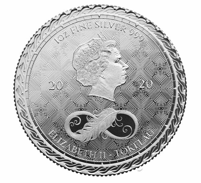 2020 Tokelau Chronos 1oz .999 Silver Bullion Coin 2