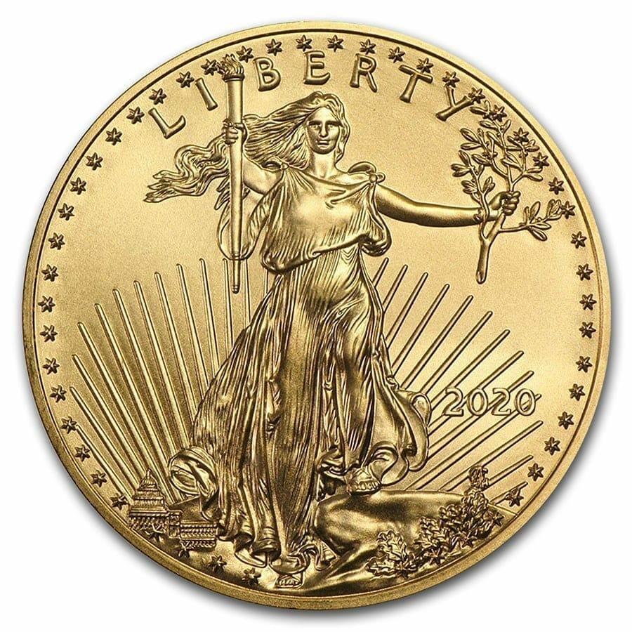 2020 Gold American Eagle 1oz Gold Coin 1