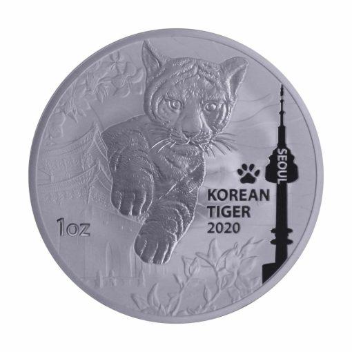 2020 South Korean Tiger 1oz .999 Silver Bullion Round 1