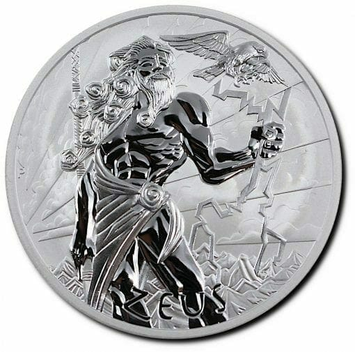 2020 Gods of Olympus - Zeus 1oz .9999 Silver Bullion Coin 1