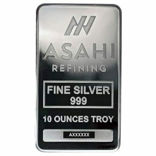 Asahi Refining 10oz .999 Silver Minted Bullion Bar 1