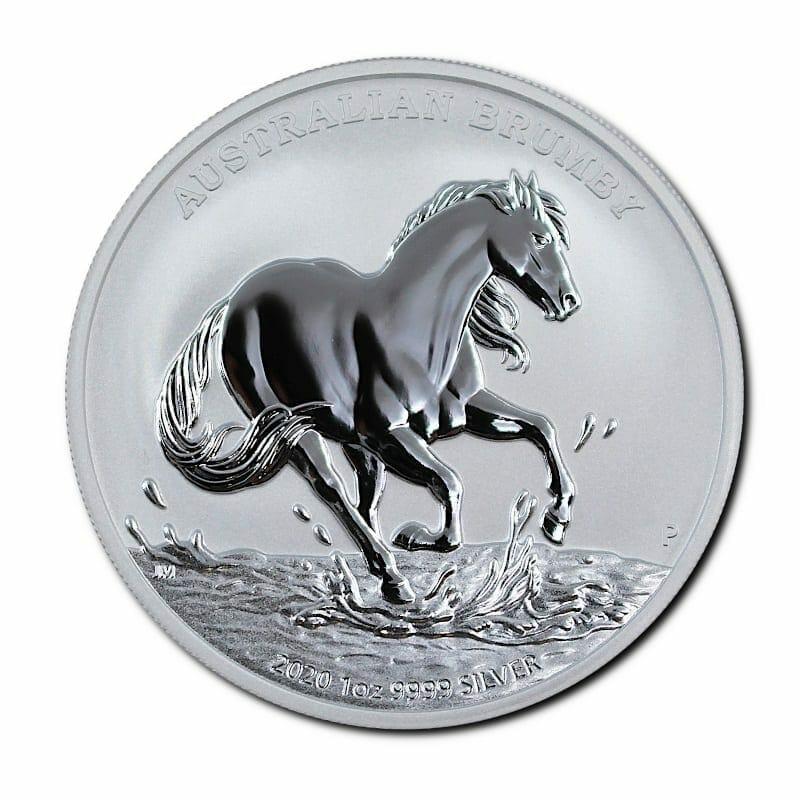 2020 Australian Brumby 1oz .9999 Silver Bullion Coin 1