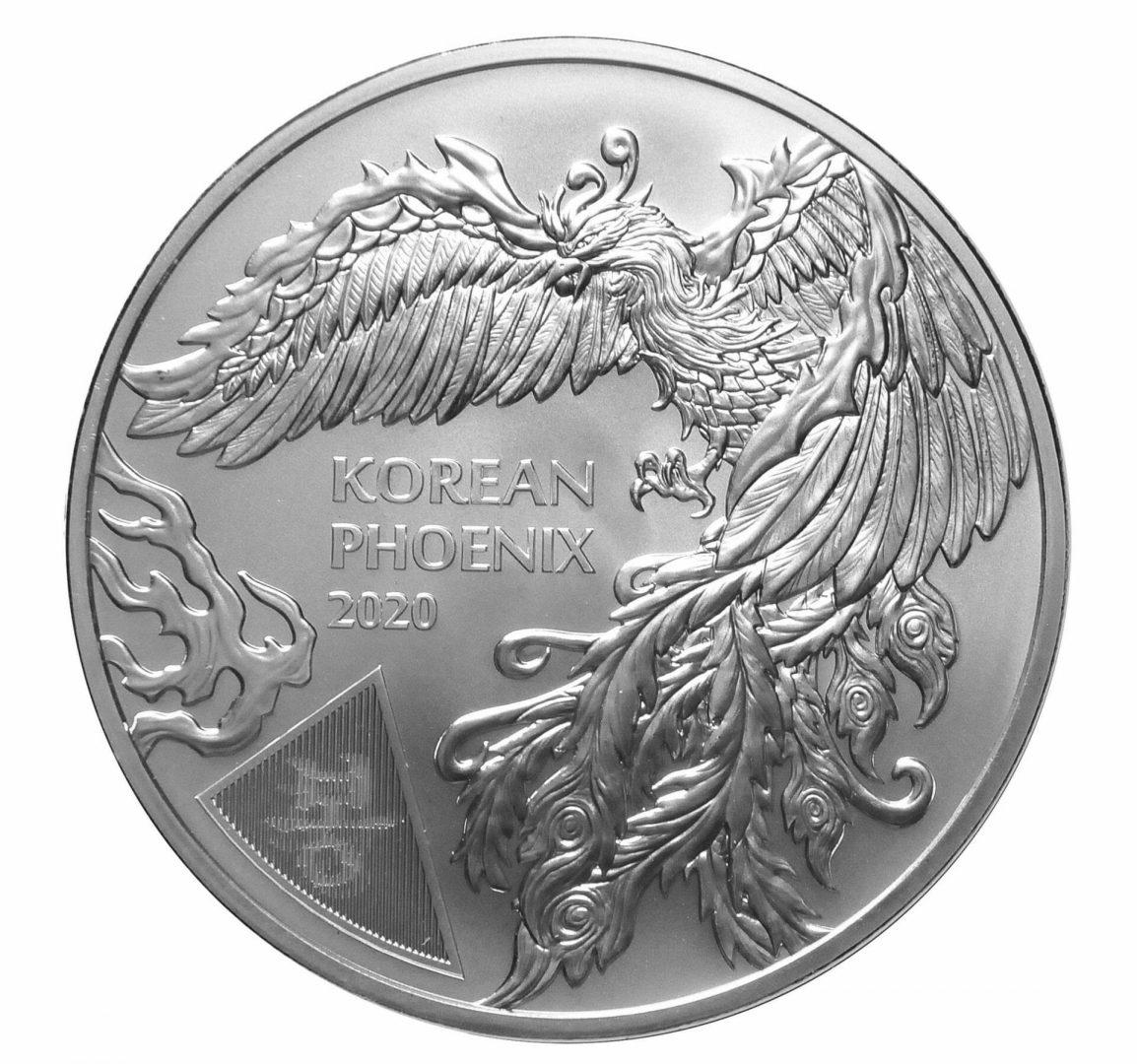 2020 South Korean Phoenix 1oz .999 Silver Bullion Round 1