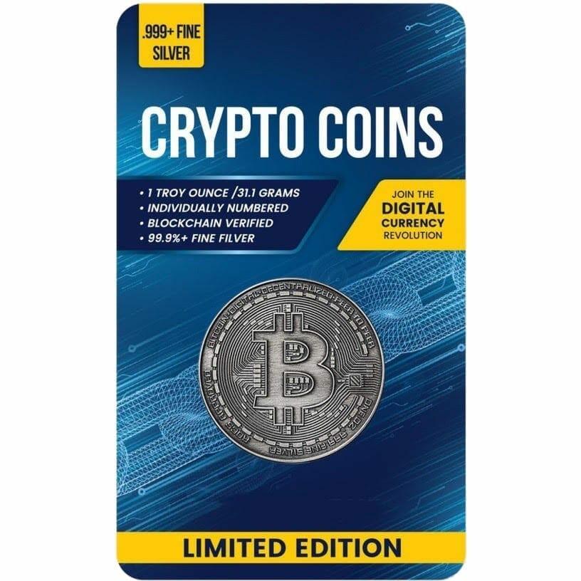 2020 Chad Crypto Series - Bitcoin 1oz .999 Silver Antiqued Coin 1