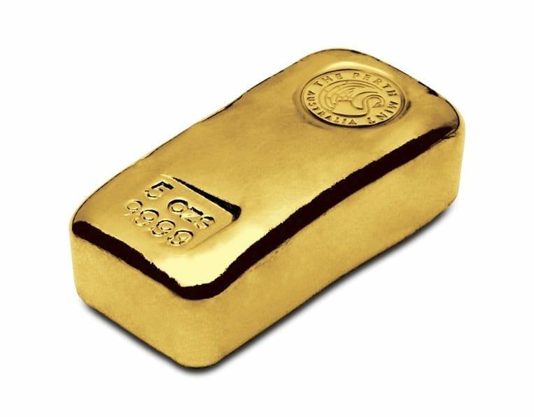 Perth Mint 5oz .9999 Gold Cast Bullion Bar 2
